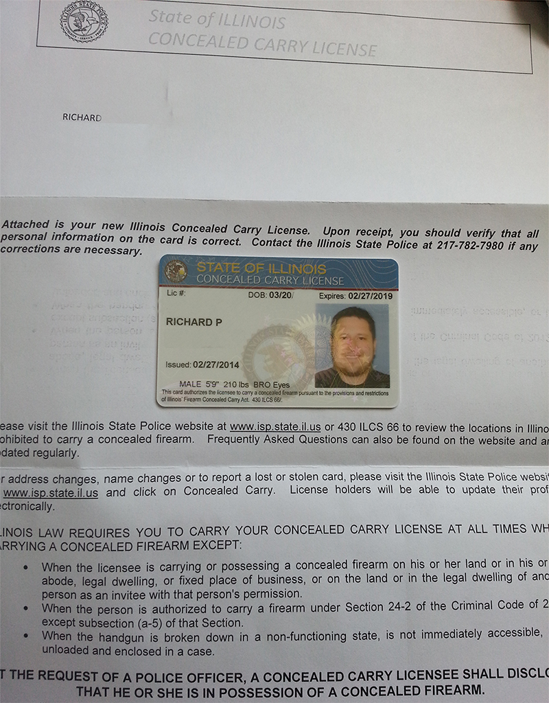 I Survived IL's First day with Concealed Carry Licensees ...