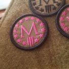 Marksmen *M* Patch Mini – Pink Thread FDE Base