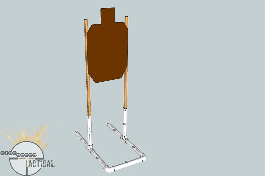DIY PVC Portable Target Stands